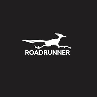 Logo sylwetka roadrunner