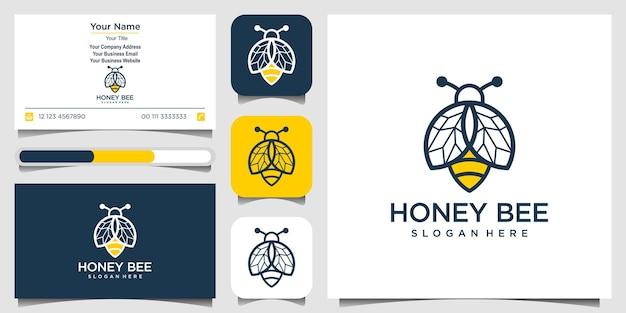 Logo symbol kreatywny wektor miód pszczeli