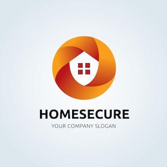 Logo systemu zabezpieczeń domowych. ikona ochrony witryny, aplikacji mobilnej, baneru. ilustracji wektorowych.