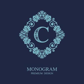 Logo szablonu kaligrafii monogram