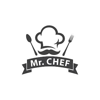 Logo szefa kuchni lub restauracji