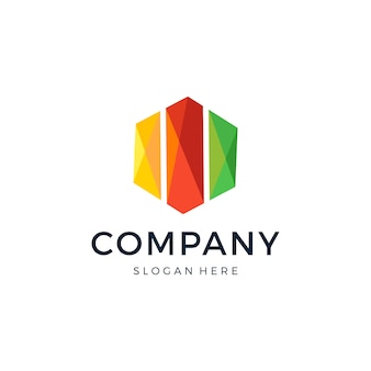 Logo sześciokątne