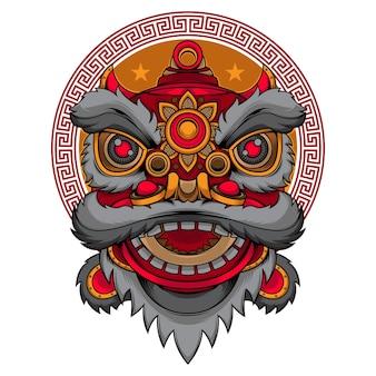 Logo tańca głowy lwa