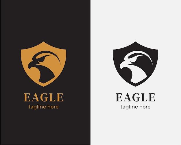 Logo tarczy głowy orła