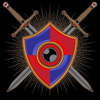 Logo tarczy i miecza