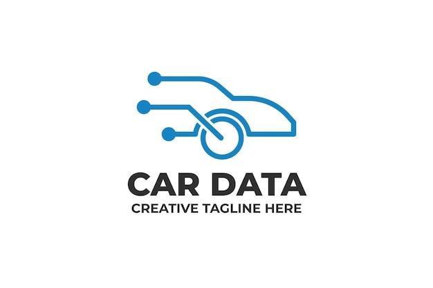 Logo technologii danych sieci kablowej samochodowej