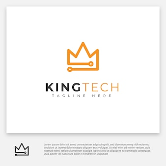 Logo technologii king