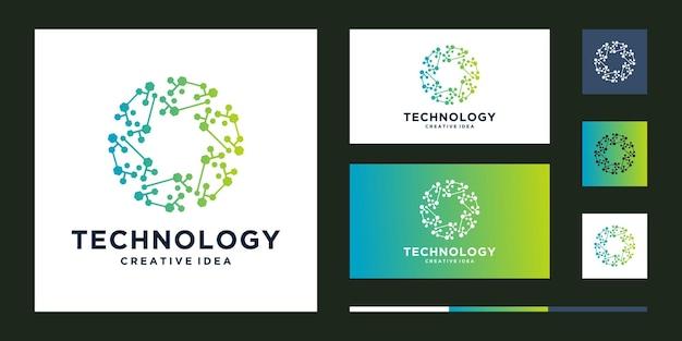 Logo Technologii Koła Premium Wektorów