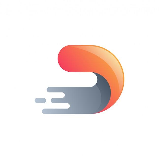 Logo technologii letter d.