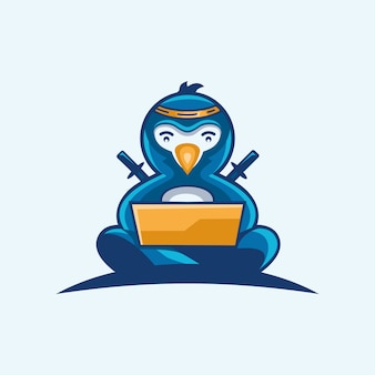 Logo technologii pingwina ninja