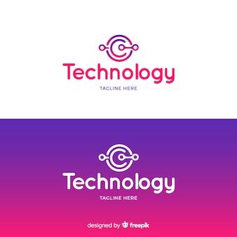 Logo technologii w stylu gradientu