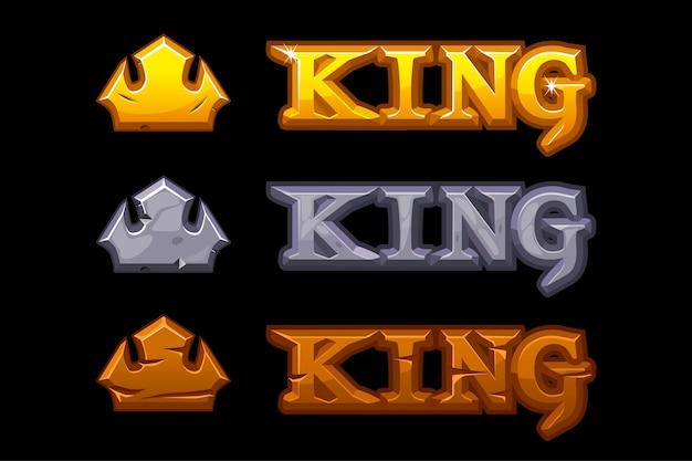 Logo teksturalne król.