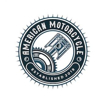 Logo tłoka dla warsztatów i motoryzacji