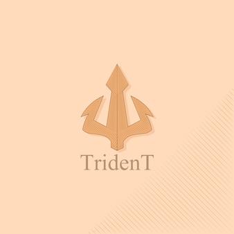 Logo trident w stylu vintage