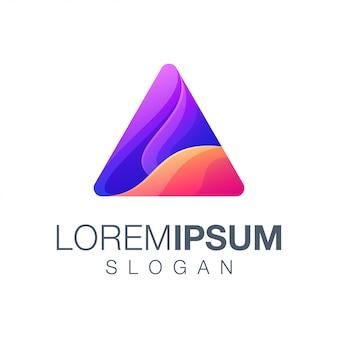 Logo trójkąt w kolorze gradientu