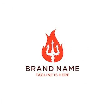 Logo trójzębu ognia