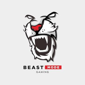Logo trybu bestii z ilustracją tygrysa