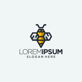 Logo trzmiela - pszczoła osy