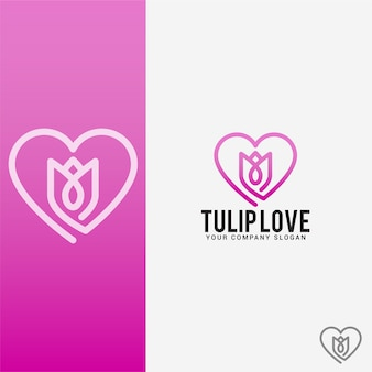 Logo tulip love