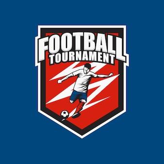 Logo turnieju piłkarskiego i ilustracji
