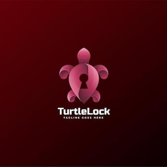 Logo turtle lock gradient kolorowy styl