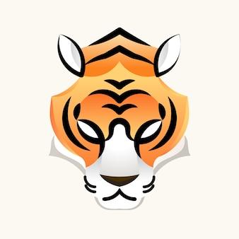 Logo twarz tygrysa dla projektu