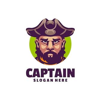 Logo twarzy pirata w fajnym stylu