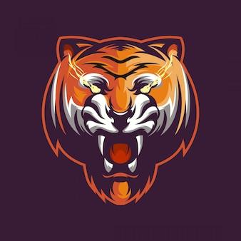 Logo twarzy tygrysa