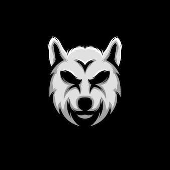 Logo twarzy wilka