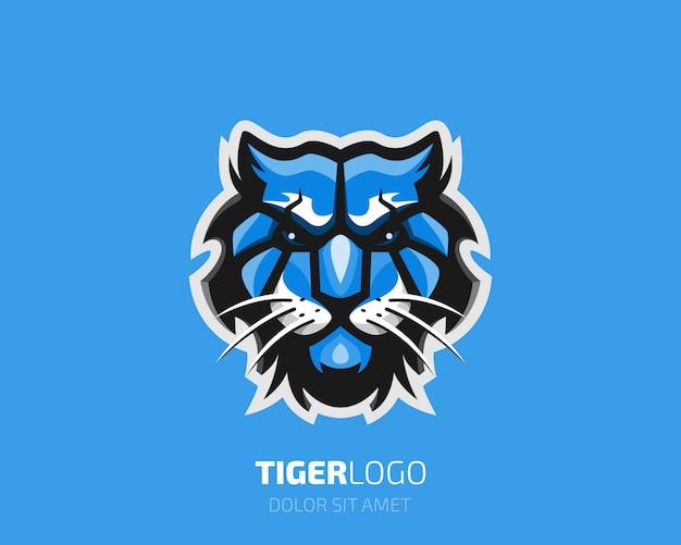 Logo tygrysa. kolorowe logo głowy tygrysa