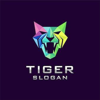 Logo tygrysa z geometryczną koncepcją