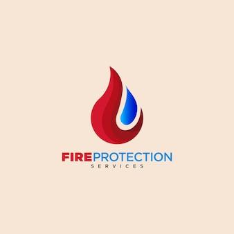 Logo usług ochrony przeciwpożarowej