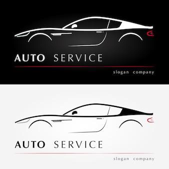 Logo usług samochodowych.