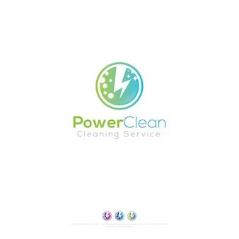 Logo usługi czyszczenia