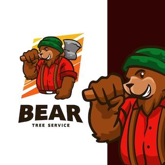 Logo usługi drzewo niedźwiedzi