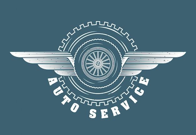 Logo usługi naprawy samochodowej