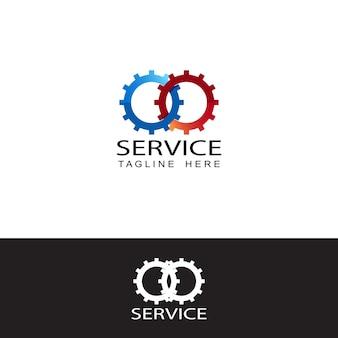 Logo usługi, szablon logo motywu samochodowego