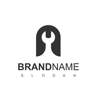 Logo usługi z literą a i symbolem klucza