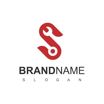 Logo usługi z literą s i symbolem klucza