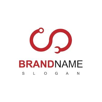Logo usługi z symbolem klucza