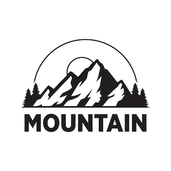 Logo vintage adventure mountain