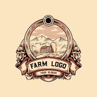 Logo vintage farm