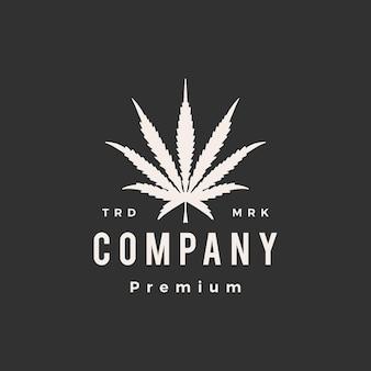 Logo vintage hipster konopi sativa