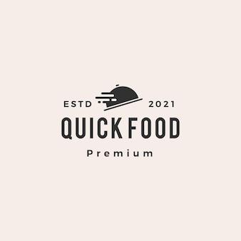 Logo vintage hipster szybkiej dostawy szybkiej dostawy