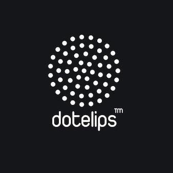 Logo w czarne kropki