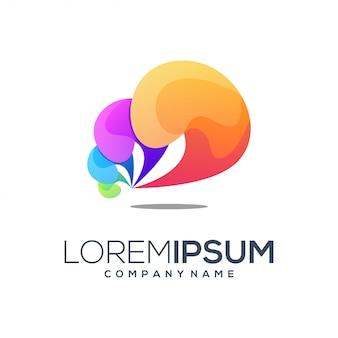 Logo w kolorze abstrakcyjnym