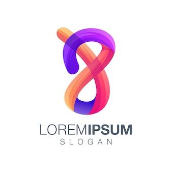 Logo w kolorze gradientu 8 litery