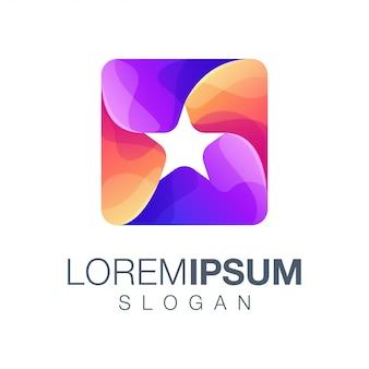 Logo w kolorze gradientu gwiazdy