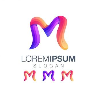 Logo w kolorze gradientu litery m.