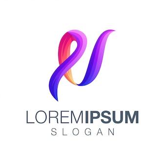 Logo w kolorze gradientu litery u.